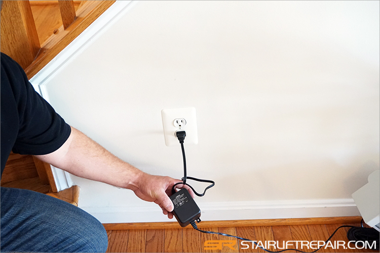 Check power supply to stair lift