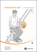 Handicare 2000 curved chairlift user manual